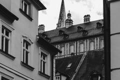 Bamberg ` s okno domy obraz stock