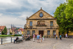 Bamberg. Schlachte House - the old slaughterhouse yard (1741), located on the banks of the Regnitz river Royalty Free Stock Photos