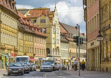 Bamberg street, Germany stock image