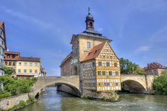 Bamberg Townhall, Alemania fotografía de archivo