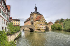 Bamberg Townhall, Duitsland Stock Foto's