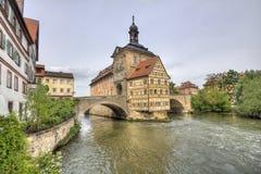 Bamberg Townhall, Tyskland Arkivfoton