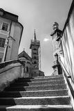 Bamberg Tyskland. Sikt till Domplatz. Royaltyfri Foto