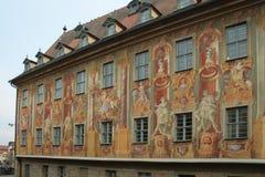 Bamberg urząd miasta Frescoes fotografia stock