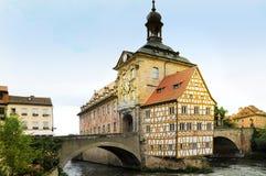 Bamberg urząd miasta Zdjęcia Royalty Free