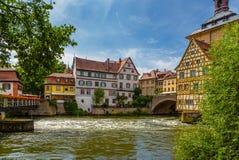 Bamberg Vieux bâtiments sur la rive est des cils Droite - caporal à colombage House, 1668 photos libres de droits