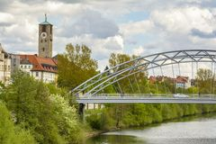 River side in Bamberg stock photos