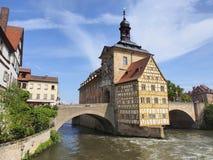 Bamberga - città storica in Germania fotografia stock libera da diritti