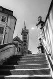 Bamberga, Germania. Vista a Domplatz. Fotografia Stock Libera da Diritti