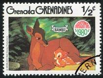Bambi med modern Royaltyfria Bilder