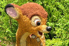 Disney World Topiary. An image of the Bambi topiary representative of the 2014 Epcots International Flower & Garden Festival at Disney World Stock Photography