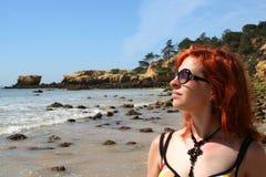 Bambina 4 della spiaggia Fotografia Stock Libera da Diritti