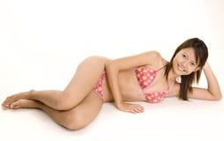 Bambina 5 del bikini Immagine Stock