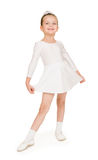 Bambina in abito di palla bianco Immagine Stock Libera da Diritti