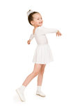 Bambina in abito di palla bianco Immagini Stock Libere da Diritti