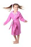 Bambina in abito di preparazione Fotografie Stock
