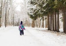 Bambina adorabile divertendosi il giorno di inverno Fotografia Stock Libera da Diritti