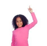 Bambina africana che chiede la parola con la sua mano Immagini Stock