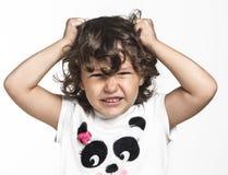 Bambina arrabbiata Immagini Stock