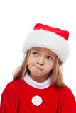 Bambina in attrezzatura del Babbo Natale Fotografia Stock Libera da Diritti