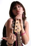 Bambina bassa con l'atteggiamento V2 fotografia stock libera da diritti