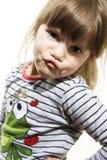 Bambina bella divertente Fotografia Stock Libera da Diritti