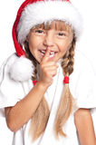 Bambina in cappello della Santa Immagine Stock