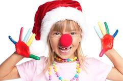 Bambina in cappello della Santa Fotografie Stock Libere da Diritti