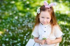 Bambina che celebra Pasqua Fotografia Stock