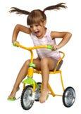 Bambina che conduce bicicletta Fotografia Stock Libera da Diritti