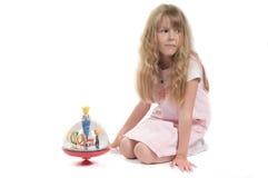 Bambina che gioca con il giocattolo Fotografia Stock Libera da Diritti