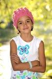 Bambina che gode della natura Fotografie Stock Libere da Diritti