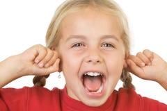 Bambina che grida immagini stock