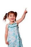 Bambina che indica in su Fotografia Stock Libera da Diritti