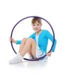Bambina che la ginnasta si esercita Immagini Stock Libere da Diritti