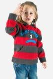 Bambina che mostra segno giusto Immagine Stock