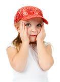 Bambina che osserva in su Immagini Stock