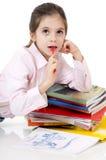 Bambina che pensa lizenzfreies stockbild
