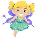Bambina che porta costume leggiadramente illustrazione vettoriale