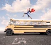 Bambina che porta un costume del supereroe Fotografia Stock Libera da Diritti