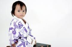 bambina che porta un vestito di bagno Fotografia Stock Libera da Diritti