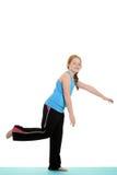 Bambina che pratica all'equilibrio Fotografie Stock
