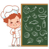 Bambina come cuoco unico Immagine Stock
