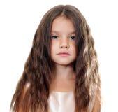 Bambina con bei capelli fotografie stock