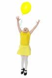Bambina con gli aerostati Fotografie Stock