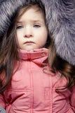 Bambina con gli occhi azzurri Fotografie Stock