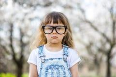 Bambina con i grandi vetri Immagine Stock