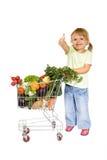 Bambina con i pollici in su Immagine Stock Libera da Diritti