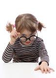Bambina con i vetri Fotografie Stock Libere da Diritti