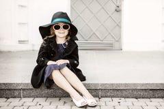 Bambina con il cappello Immagini Stock